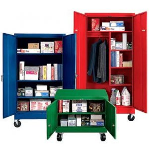 Mobile Steel Wardrobe Storage Cabinet