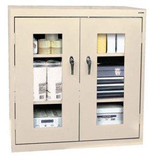 Stationary C-Thru Storage Cabinet Counter Height