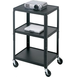 Adjustable Height Steel AV Cart