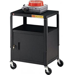 Steel Adjustable AV Cabinet Cart w Electric