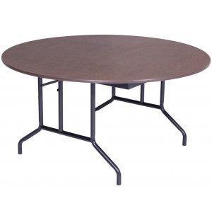 Round Plywood-Core Folding Table Wishbone Leg