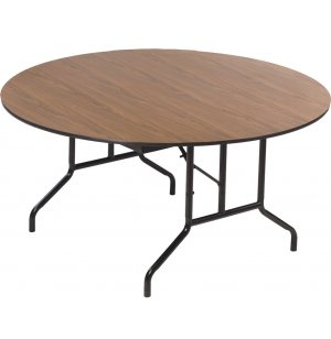 Round Plywood-Core Folding Table Wishbone Leg