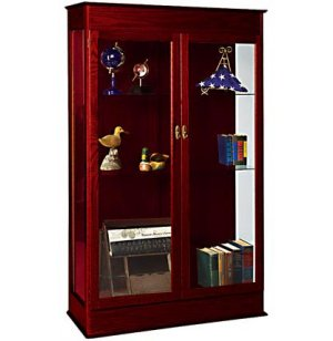 Traditional Wood Display Cabinet
