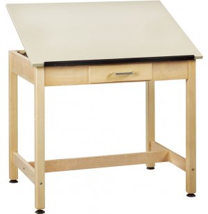 Drawing Table 1-Piece Top Small Drawer