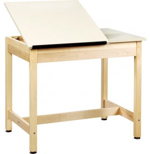 Drawing Table 2-Piece Top Large Drawer