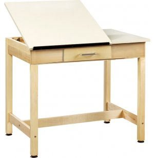 Drawing Table 2-Piece Top Small Drawer