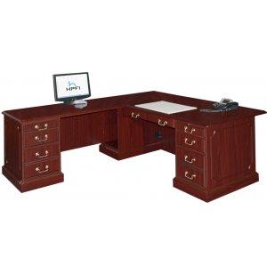 Bedford L-Shaped Office Desk- L Return Large