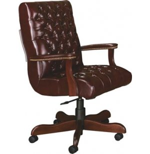 Bedford Scoop Office Chair w/ Casters in Gr 1