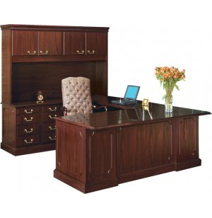Bedford U-Desk w/Left Return & Hutch