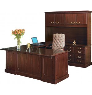 Bedford U-Desk w/Right Return & Hutch