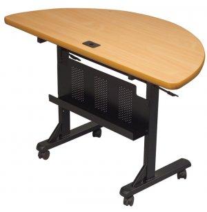 Flipper Table Half Round - Teak