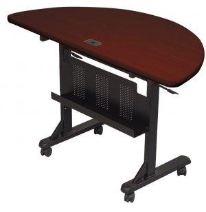 Flipper Table Half Round - Mahogany
