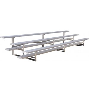 7.5' Aluminum Tip n' Roll Bleachers, 3 Rows