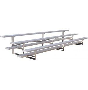 15' Aluminum Bleachers, 3 Rows