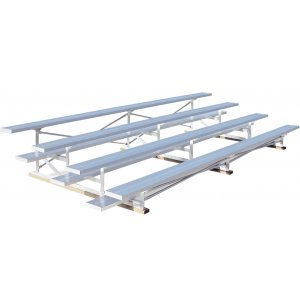7.5' Aluminum Tip n' Roll Bleachers, 4 Rows