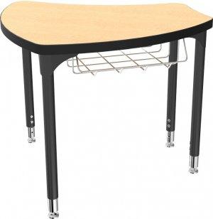 Balt Shapes Collaborative School Desk w/ Book Basket