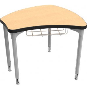 Balt Shapes Collaborative School Desk w/ Book Basket