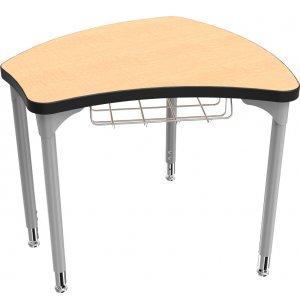 Shapes Collaborative School Desk w/ Book Basket