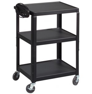 All-Steel Adjustable AV Cart w/ Power Strip