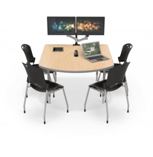 MediaSpace Table with Platinum Legs
