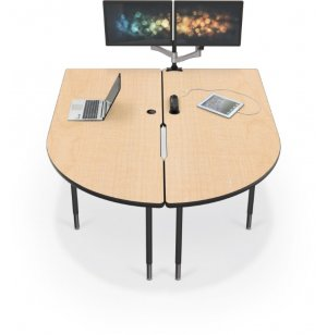 MediaSpace Table with Black Legs