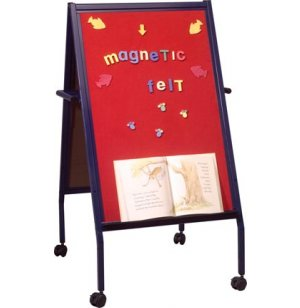 Magnetic Felt Board Easel with Casters