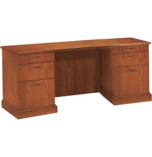 Belmont Locking Office Kneespace Credenza w/ Return Molding