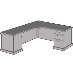 Belmont Right Corner L-Shaped Office Desk