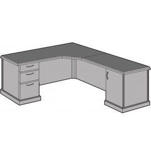 Belmont Left Corner L-Shaped Office Desk