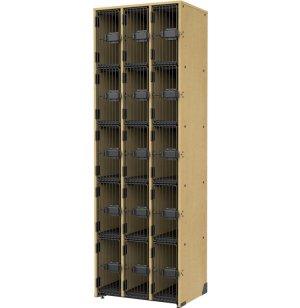 Band-Stor Instrument Locker - 15 Cubbies, Grille Doors