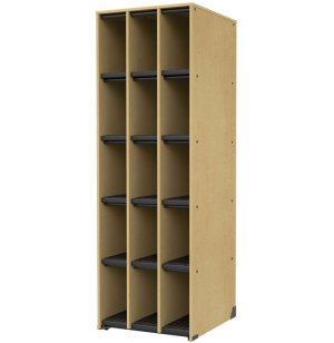 Band-Stor Music Instrument Storage - 15 Deep Cubbies