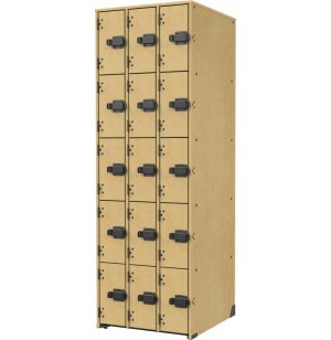 Band-Stor Instrument Locker - Solid Doors, 15 Deep Cubbies