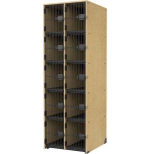 Band-Stor Instrument Locker - Grille Doors, 10 Cubbies