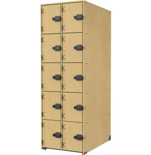 Band-Stor Instrument Locker - Solid Doors, 10 Deep Cubbies