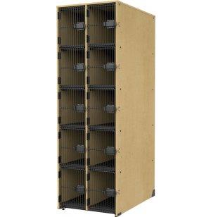 Band-Stor Instrument Locker - Grille Doors, 10 Deep Cubbies