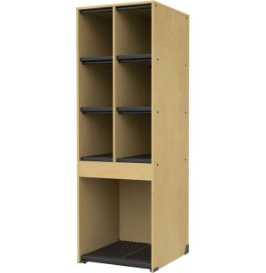 Band-Stor Music Instrument Storage - 6 Equal Cubbies, 1 Lg