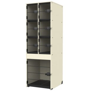Band-Stor Instrument Lockers - Grille Doors, 6 Cubbies, 1 Lg