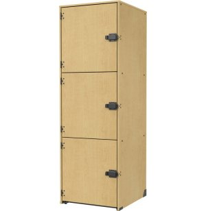 Band-Stor Instrument Locker - Solid Doors, 3 Lg Compartments