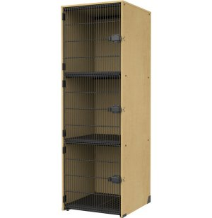 Band-Stor Instrument Locker - Grille Doors, 3 Lg Cubbies