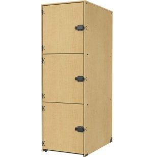 Band-Stor Instrument Locker - Solid Doors, 3 Lg Deep Cubbies