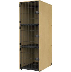 Band-Stor Locker - Grille Doors, 3 Lg Deep Cubbies