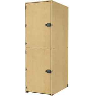 Band-Stor Locker- Solid Doors, 2 Lg X-Deep Cubbies