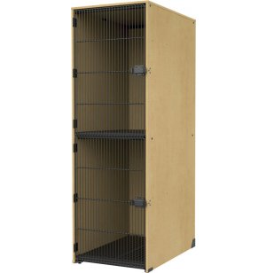 Instrument Locker - Grille Doors, 2 Lg X-Deep Cubbies