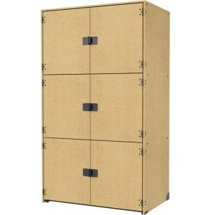 Instrument Locker - Solid Doors, 3 Extra Wide Cubbies