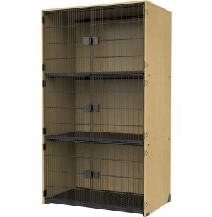 Instrument Locker -  Grille Doors, 3 Extra Wide Cubbies