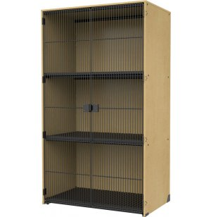 Band-Store Instrument Locker -2 Grille Doors, 3 Wide Cubbies