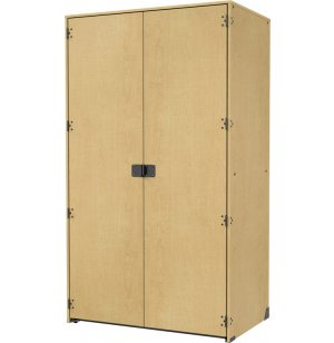 Instrument Locker - Solid Full-Length Doors, 2 XL Cubbies