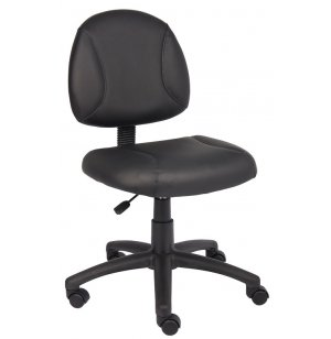 Economy Armless Leather Task Chair
