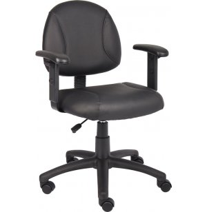 Black Posture Chair w/ Adjustable Arms