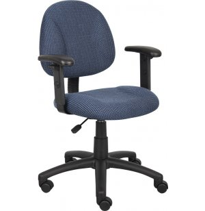 Economy Upholstered Task Chair with Arms